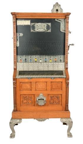 **5¢ Mills Novelty Mills Cricket Upright Slot Machine.