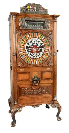 **25¢ Mills 20th Century Upright Slot Machine.