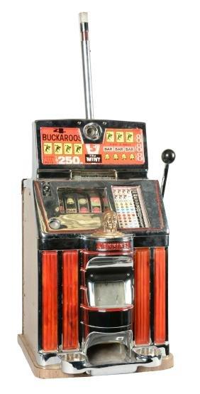 **25¢ Jennings Buckaroo Slot Machine.