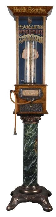 Reproduction 1¢ Caille Lung Tester Arcade Amusement