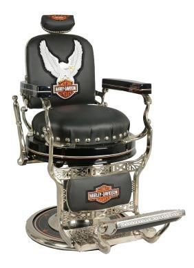 Koken Harley-Davidson Round Seat Barber Chair.