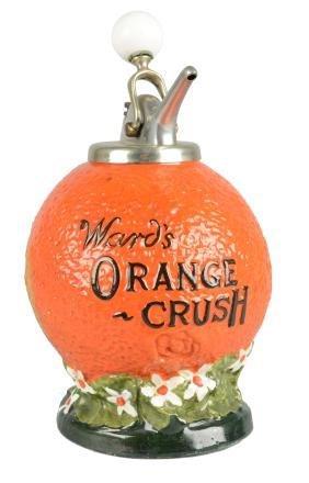 Ward's Oarnge Crush Soda Fountain Syrup Dispenser.