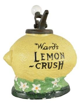 Ward's Lemon Crush Syrup Dispenser.