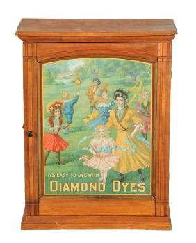 Diamond Dyes Store Display Cabinet.