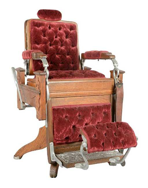 - Koken Barber Supply Co. Wooden Barber Chair.