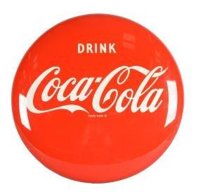 Coca-Cola Button Sign.