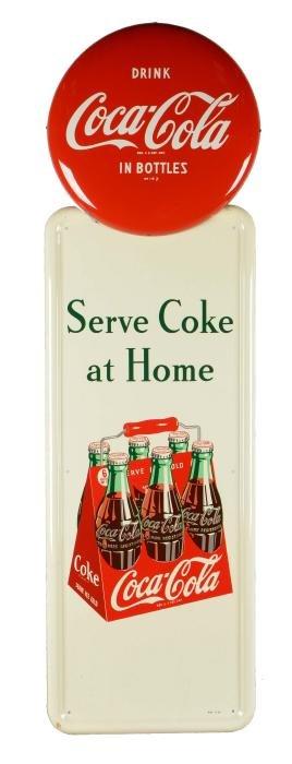 Serve Coke At Home Tin Sign.