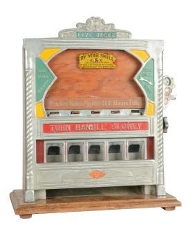 **5¢ Field Mfg. Five Jacks Counter Pocket Trade