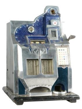 """**1¢ Mills Q.T. """"Firebird"""" Slot Machine."""