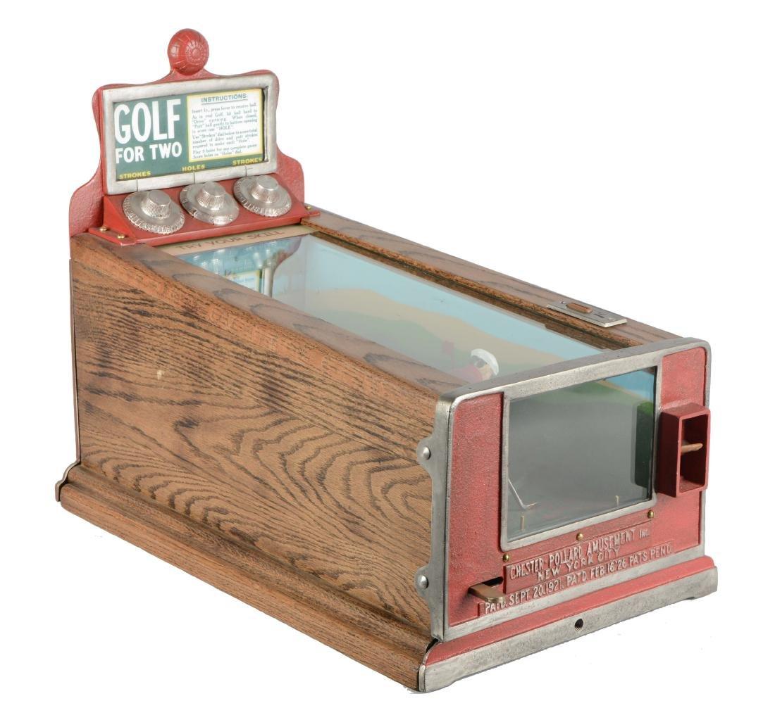 1¢ Chester-Pollard Golf For Two Counter Arcade Machine.