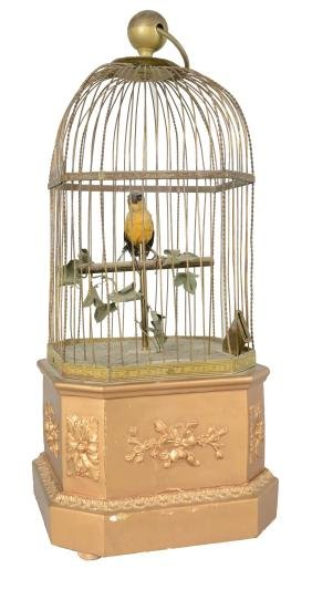 1D Singing Bird Automaton In Cage.