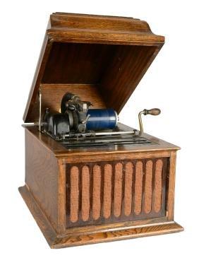 Thomas A. Edison Amberola 30 Phonograph.