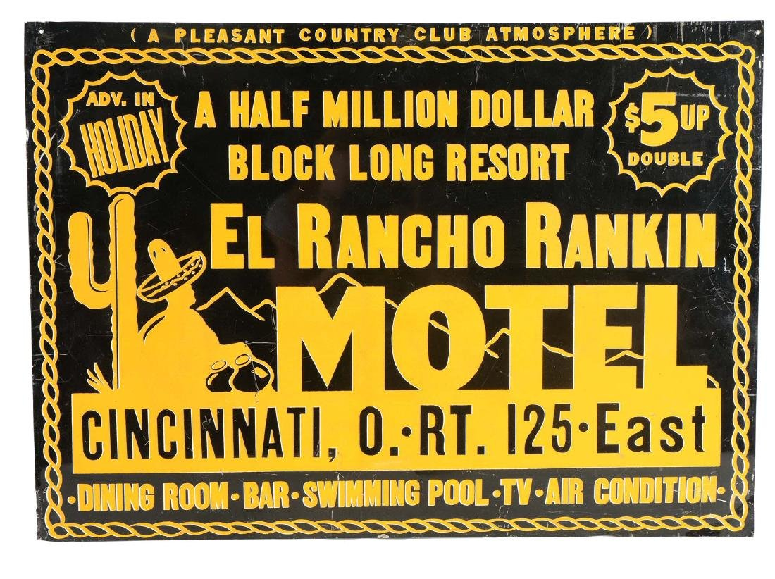 El Rancho Rankin Motel Sign.