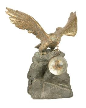 Large Bronze Eagle Pocket Watch Holder Display.