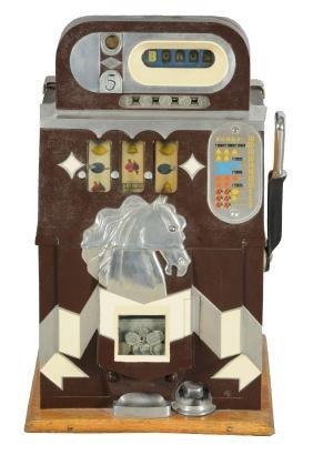 **5¢ Mills Novelty Co. Bonus Horse Head Slot Machine.