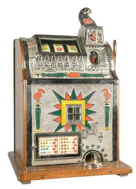 **10¢ Mills Novelty Co. Torch Front Slot Machine.
