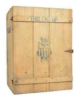 Pace Mfg. Wooden Shipping Crate.