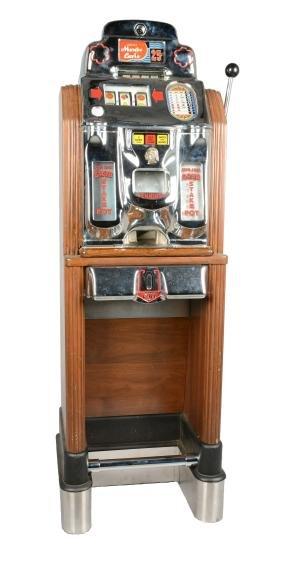**25¢ Jennings Monte Carlo Console Slot Machine.