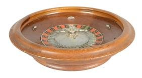 Wooden Roulette Wheel.