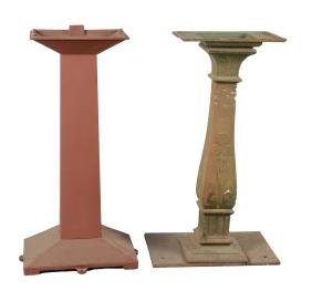 Lot Of 2: Cast Iron Slot Machine Stands.