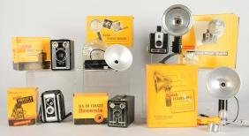 Lot Of 6: Kodak Cameras And Parts.