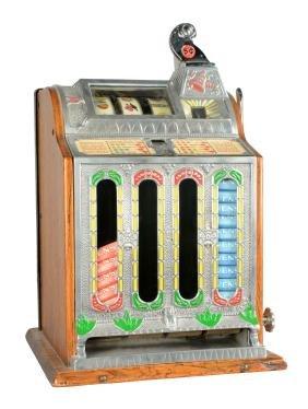 **5¢ Mills Novelty O.K. Front Vendor Slot Machine.