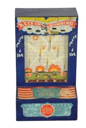 1¢ Atlas Novelty Co. Keep Em Bombing Countertop Coin