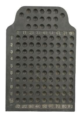 Operator's Metal Keno Board.