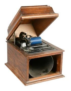 Edison Amberola Tabletop Phonograph Player.