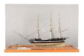 3/32 Scale U.S.S. Constitution Model Ship With Original