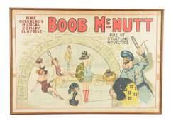 Rube Goldbergs Boob McNutt Musical Comedy Poster