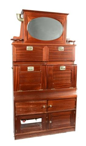 Antique Fold-Out Sink Cabinet.