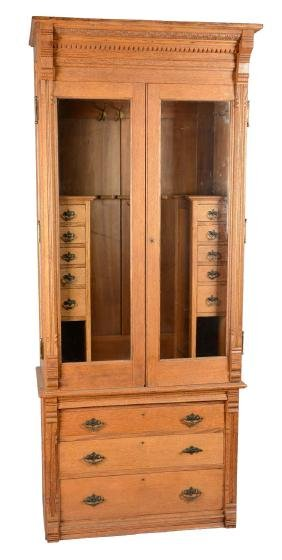 Antique Gentelman's Rifle Cabinet.