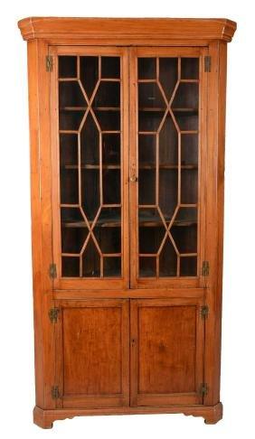 Rare Early American Corner Cabinet.