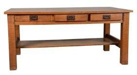 Rare Gustav Stickley Signed Craftsman Table.