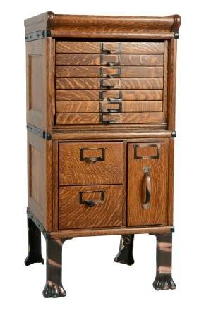 Quarter Sawn Oak File Cabinet.