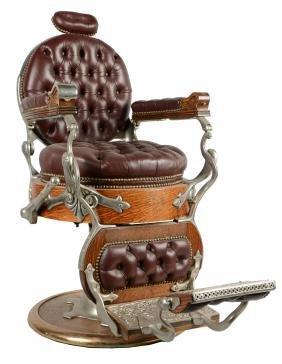 Koken Congress Pedestal Hydraulic Barber Chair.