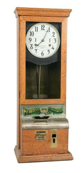 Vintage Wall Mounted Punch Clock.