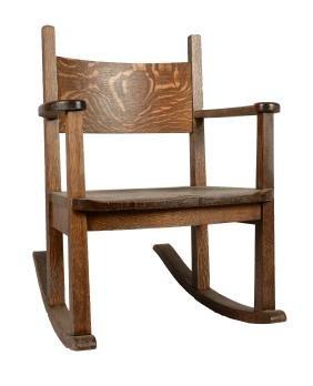 Oak Rocking Chair.