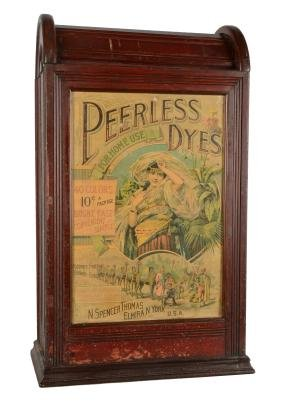 Peerless Dyes Wood Store Display Case.