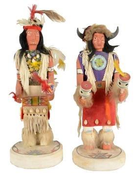 Lot Of 2: Chief Iron Horse Kachina Dolls.
