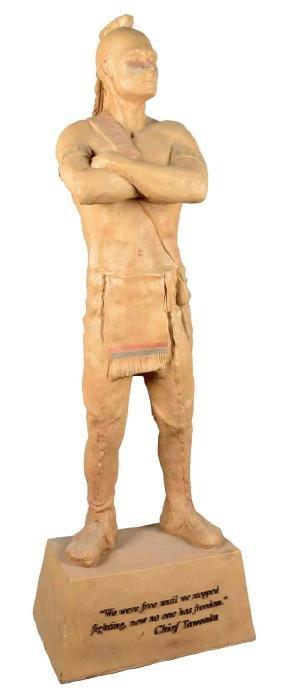 Fiberglass Native American Statue.