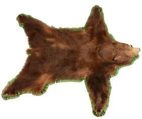 Brown Bear Skin Rug.