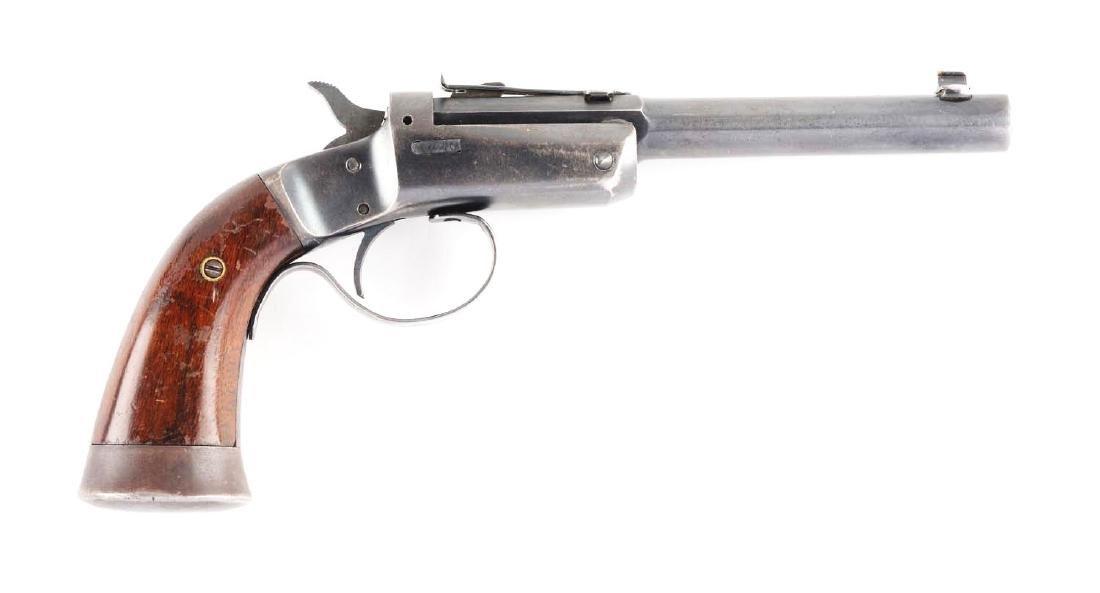 (C) Stevens Off-Hand Target No. 35 Single Shot Pistol.