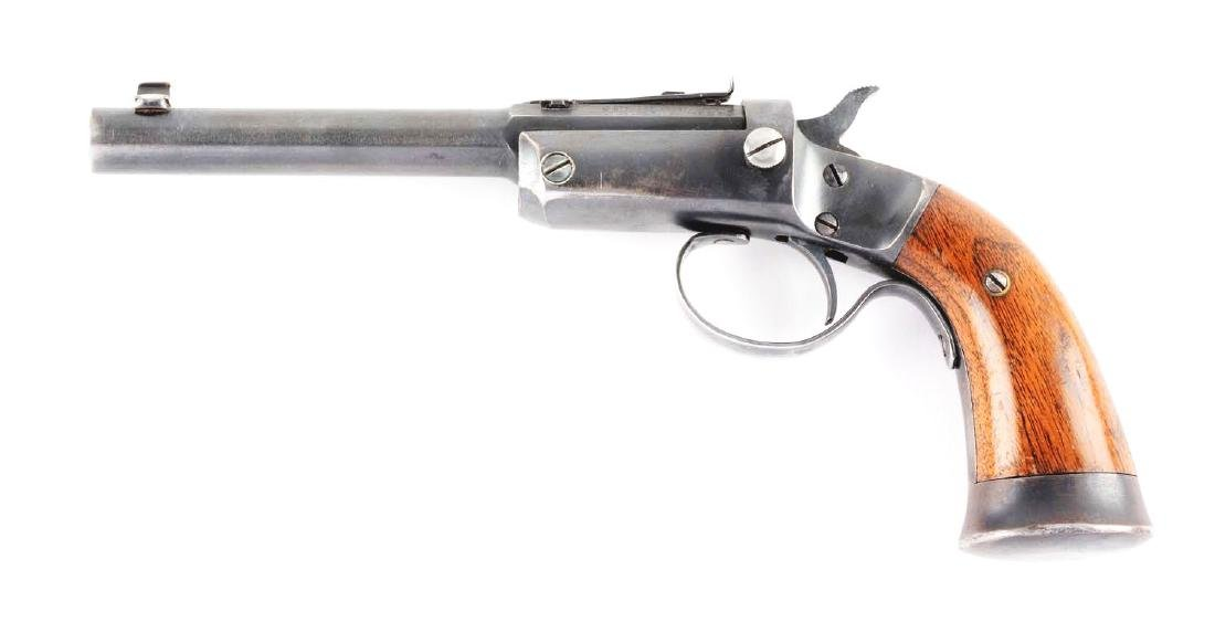 (C) Stevens Off-Hand Target No. 35 Single Shot Pistol. - 2
