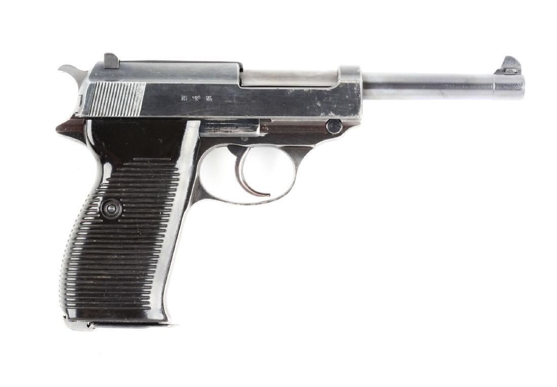 (C) Nazi Marked Walther P38 Semi-Automatic Pistol.