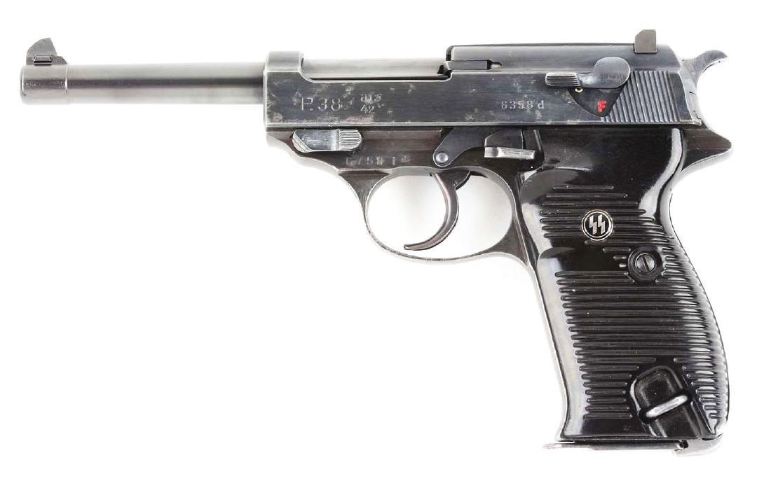 (C) Nazi Marked Walther P38 Semi-Automatic Pistol. - 2