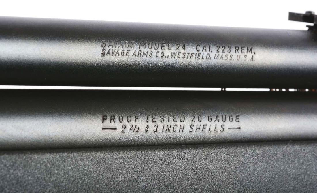 (M) Savage Model 24 Combination Rifle & Shotgun. - 6