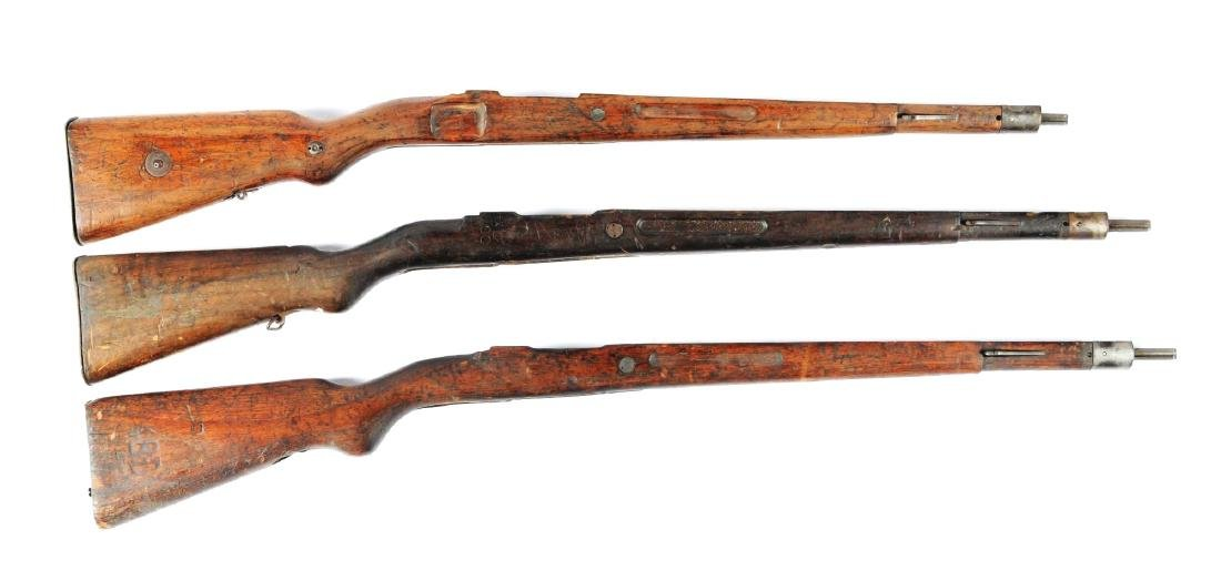 Lot Of 3: Assorted Period Mauser Military Rifle Stocks.