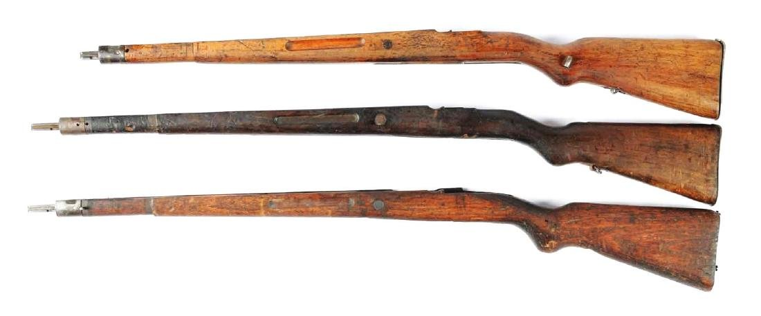 Lot Of 3: Assorted Period Mauser Military Rifle Stocks. - 2